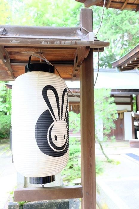 岡崎神社 フォトジェニックなうさぎの提灯