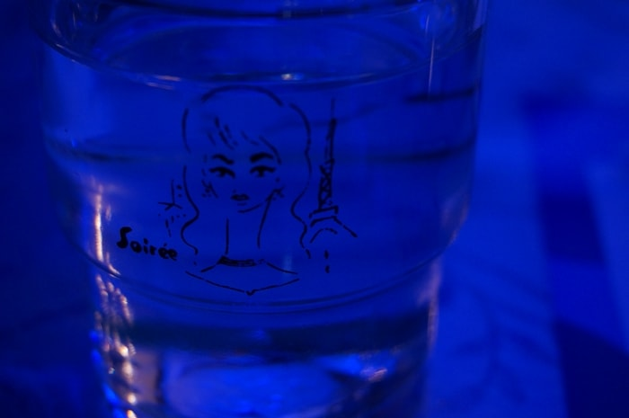 喫茶ソワレ 東郷青児イラストのグラス