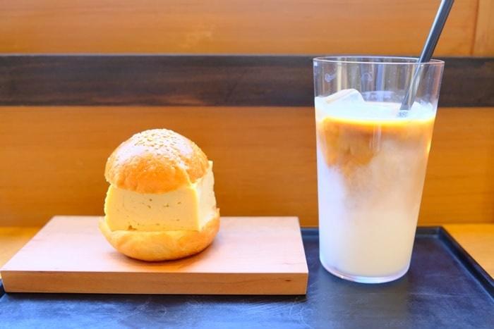 フォトジェニックなノットカフェのだし巻き玉子サンド