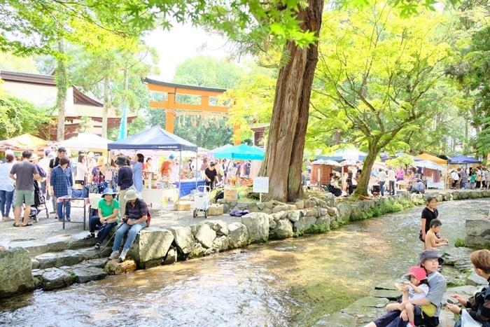 フォトジェニックな上賀茂神社の手づくり市