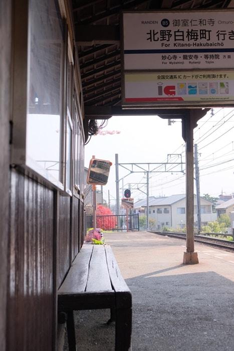 京都でノスタルジックな撮影スポット嵐電
