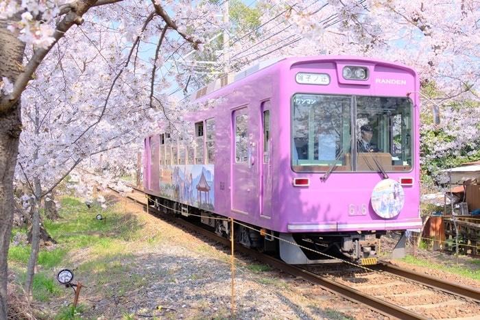 京都ノスタルジックな撮影スポット 嵐電