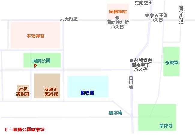 岡崎神社へのアクセスマップ(地図)