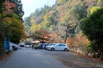 神護寺近くの駐車場
