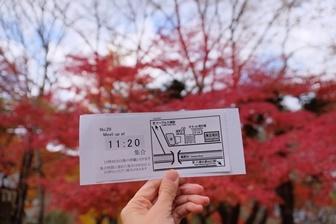 瑠璃光院 紅葉の混雑時に配付される整理券
