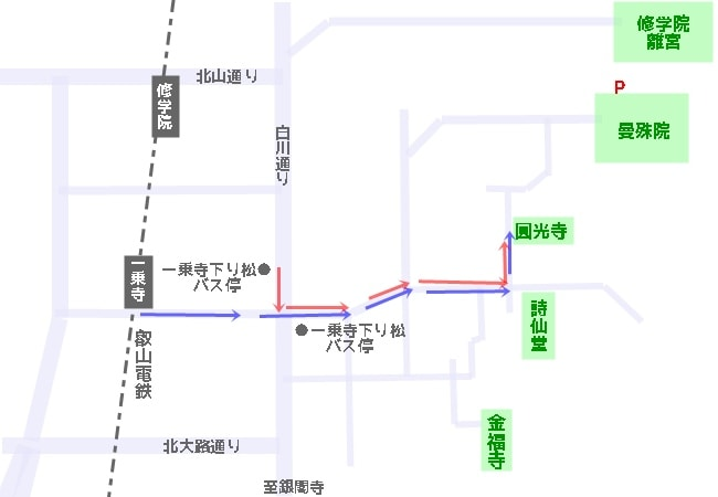 圓光寺へのアクセスマップ・地図