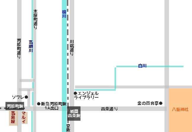 喫茶ソワレへのアクセスマップ(地図)