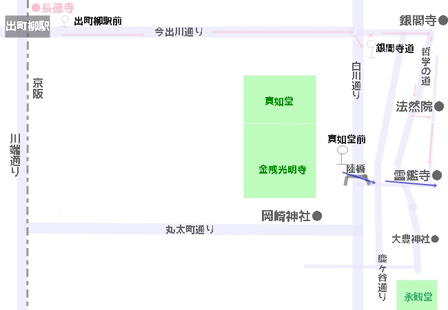 霊鑑寺へのアクセス 地図