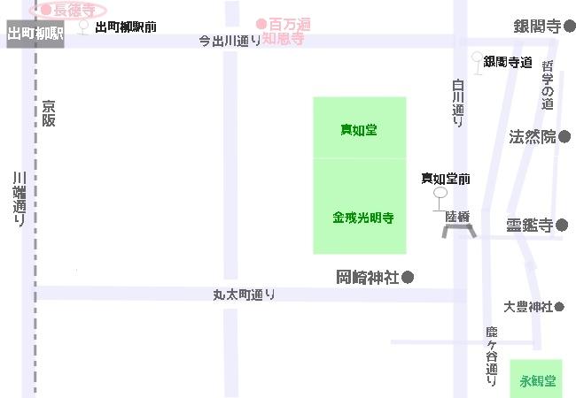 長徳寺へのアクセス 地図