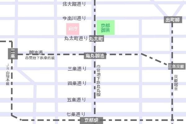 京都府庁旧本館へのアクセスマップ