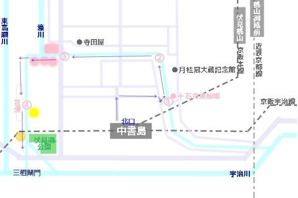 伏見十石舟周辺桜マップ