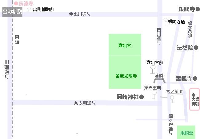 大豊神社へのアクセスマップ