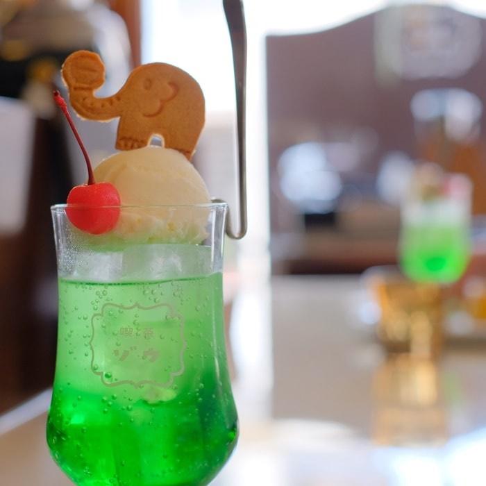 喫茶ゾウのクリームソーダ 画像