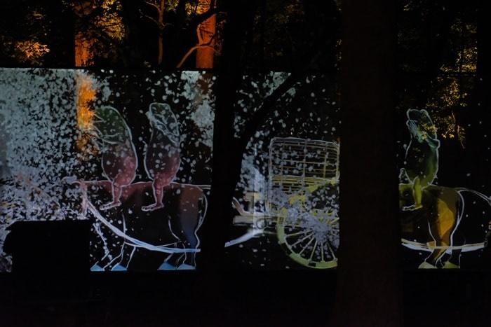 下鴨神社チームラボ 光の祭