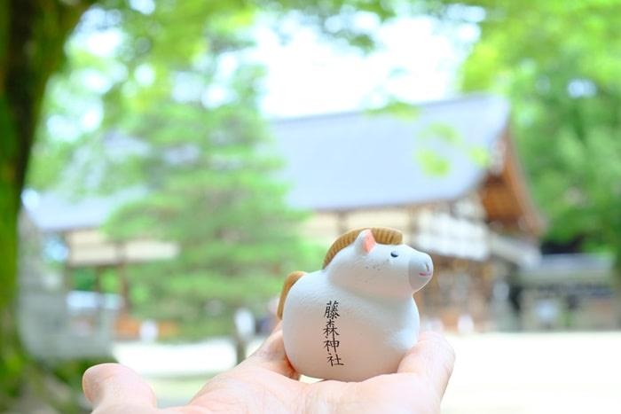 藤森神社の馬みくじ