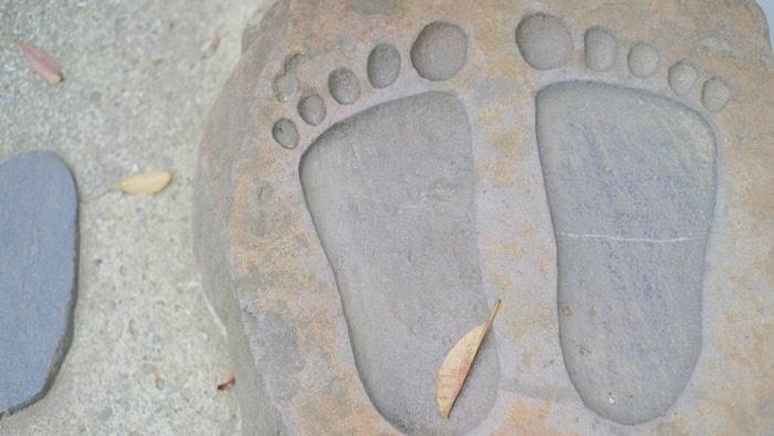 護王神社の足型