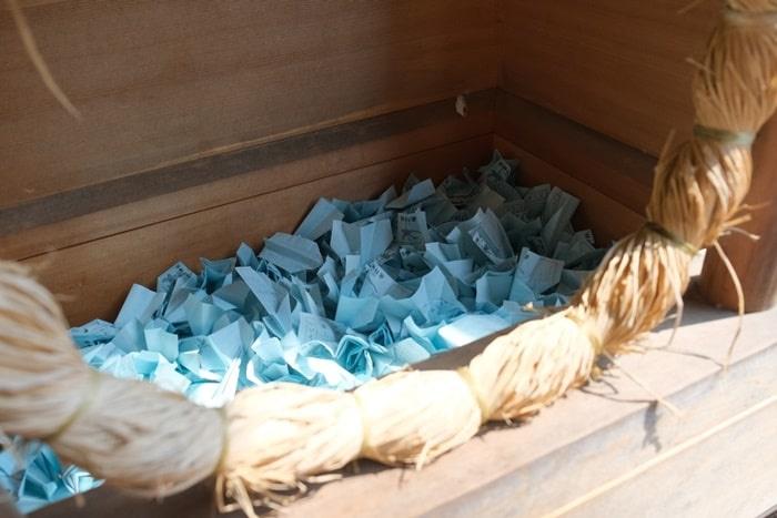 飛行神社の紙ひこうきおみくじ