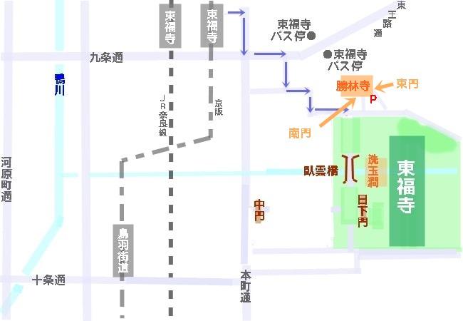 勝林寺地図