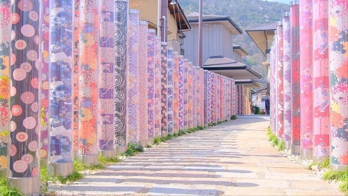 嵐電嵐山駅キモノフォレスト